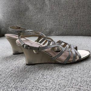 cee68ba0c Nina Shoes - Nina Fynlee crystal embellished wedge heels